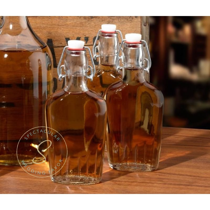 Clear Glass Flask Groomsman Gift