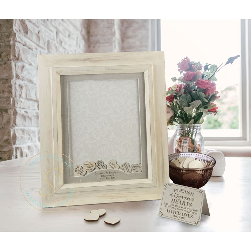 Drop Top Guest Signing Frame Scroll Name Personalized