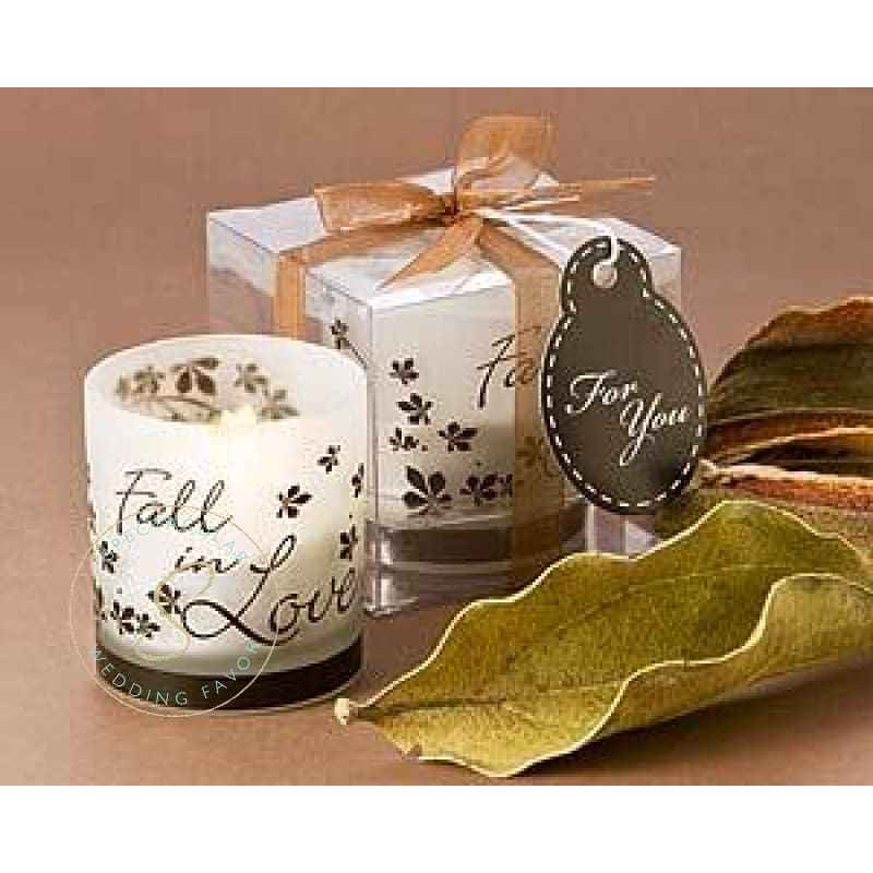 Fall In Love Tea Light Candle Holder Favor (Pack Of 4)