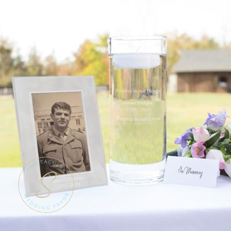 Floating Memorial Candle & Frame Set