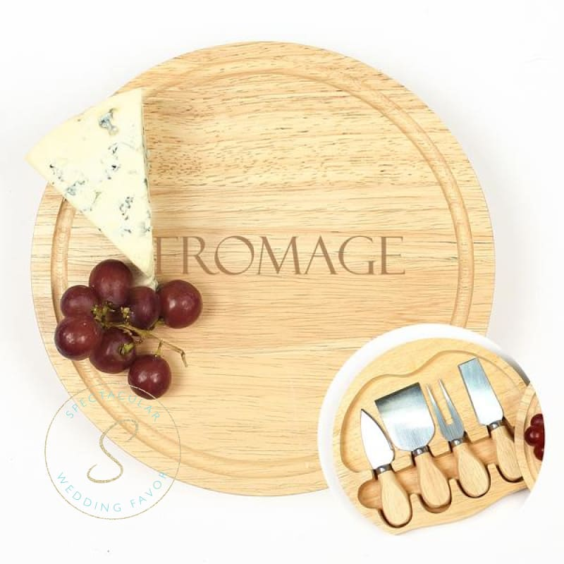 Fromage Gourmet 5Pc. Cheese Board Set W/ Utensils