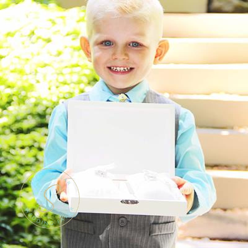 Gold Love Wedding Ring Bearer Box