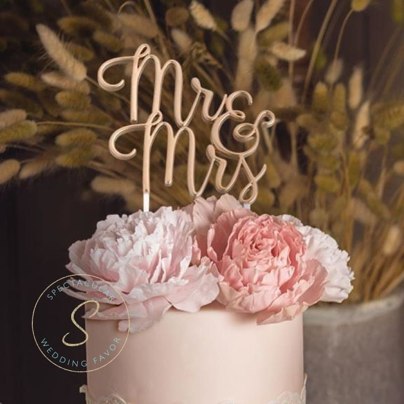 Gold Mr. & Mrs. Cake Topper - Cake Topper