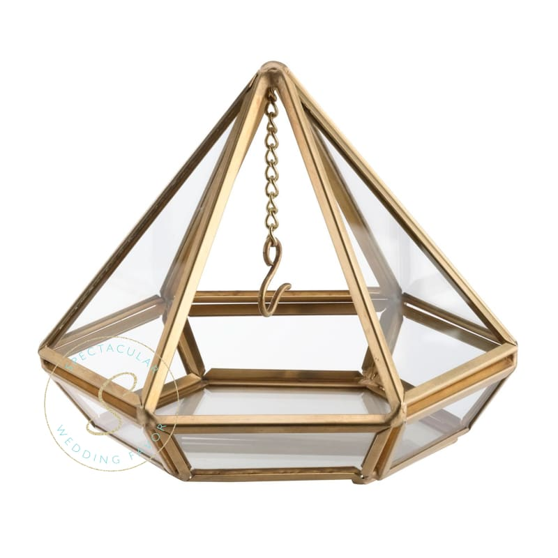Gold Or Copper Hanging Prism Ring Pillow Alternative