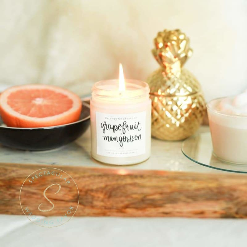 Grapefruit And Mangosteen Soy Candle 9Oz