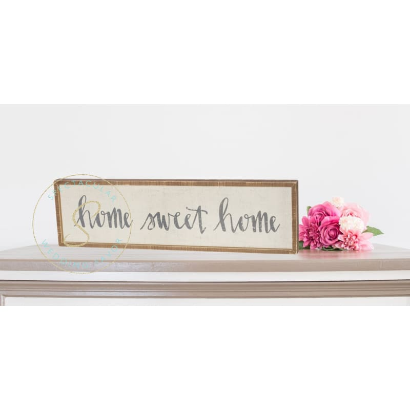 Home Sweet Home Box Sign Rustic