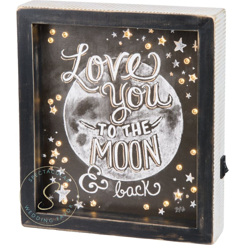Led Chalk Sign - Love You To The Moon And Back