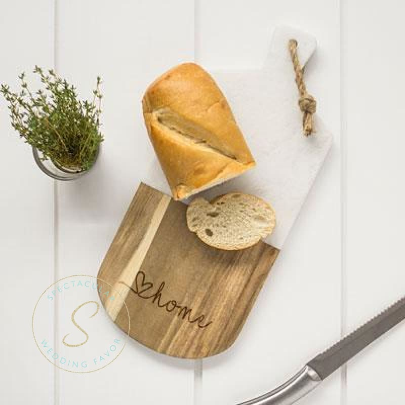Love Home Marble & Acacia Serving Board