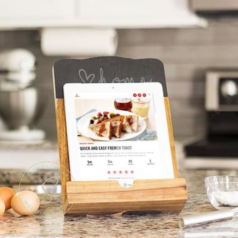 Love Home Slate & Acacia Tablet Recipe Stand