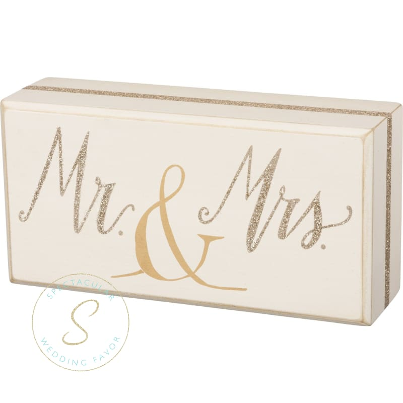 Mr. & Mrs. Glitter Box Sign