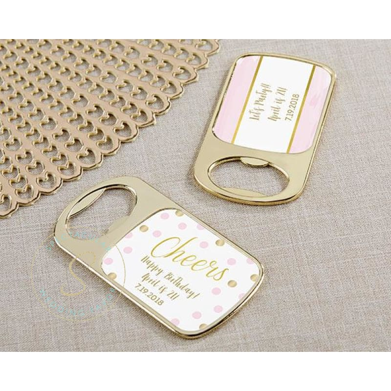 Personalized Gold Bottle Opener - Birthday For Her (Set Of 24)