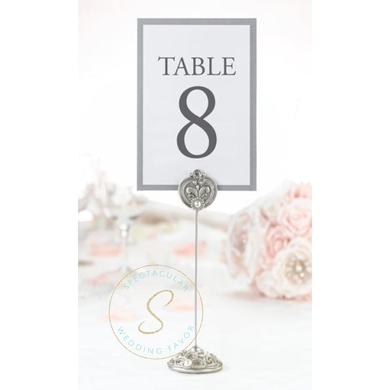 Set Of 4 Jeweled Table Number Holders