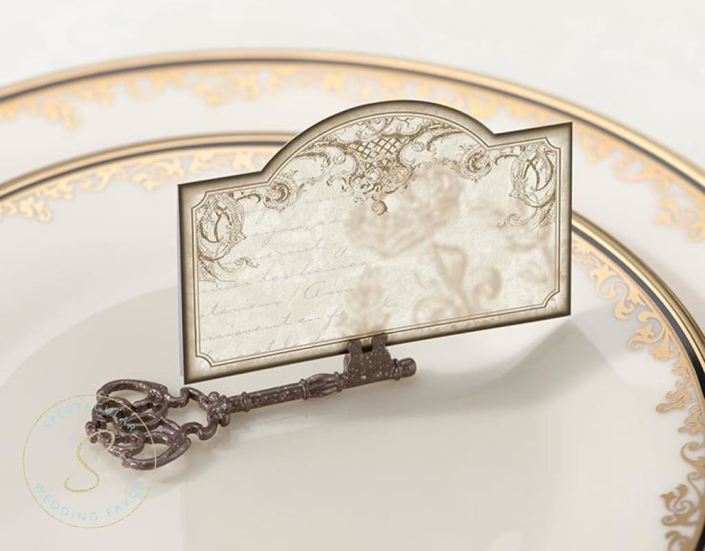 Set Of 4 Key Place Card Holders