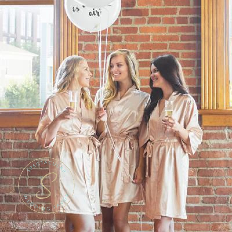 Team Bride Satin Robe Bridesmaid Robes