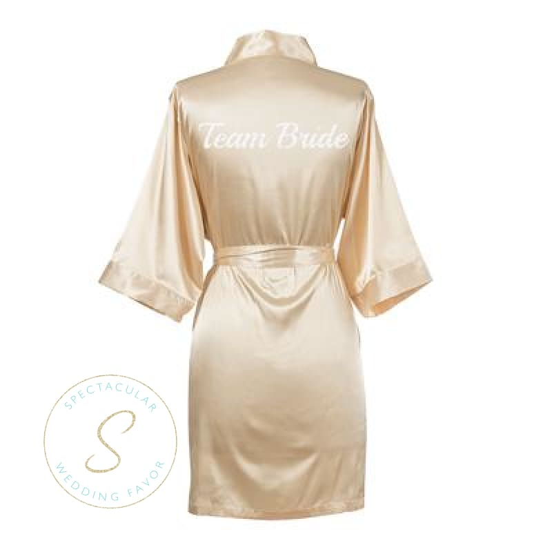 choose best coupon code fashion style Spectacular Wedding Favor - Team Bride Satin Robe Bridesmaid ...