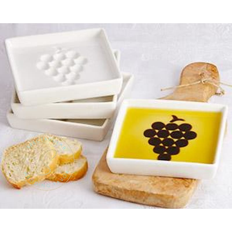 Vineyard Select Olive Oil And Vinegar Dipping Plate (4 Pack)
