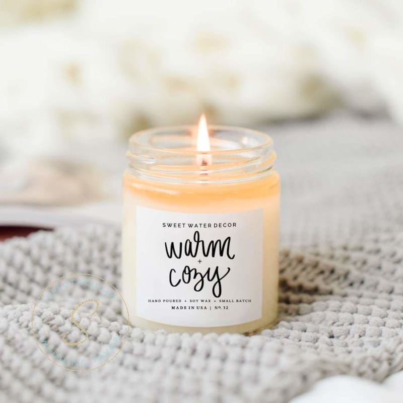 Warm + Cozy Candle 9Oz