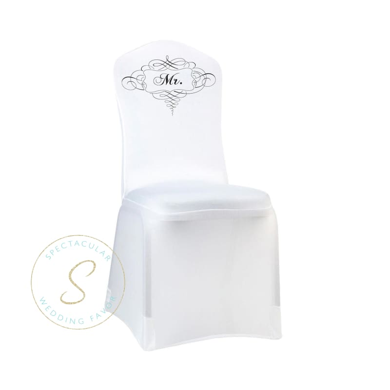 White Mr. Chair Cover