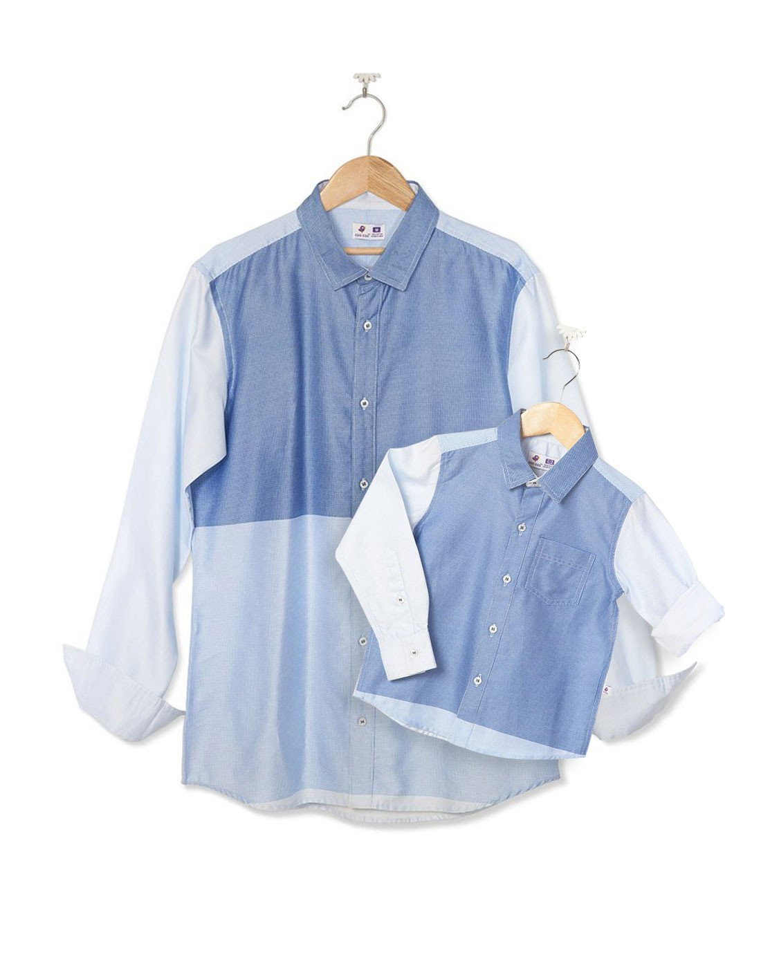 Cotton Satin Panel Shirt