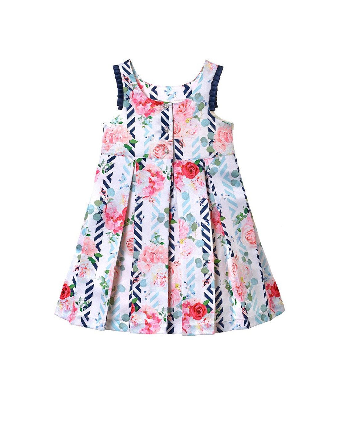 Taffeta Rose and Stripe dress