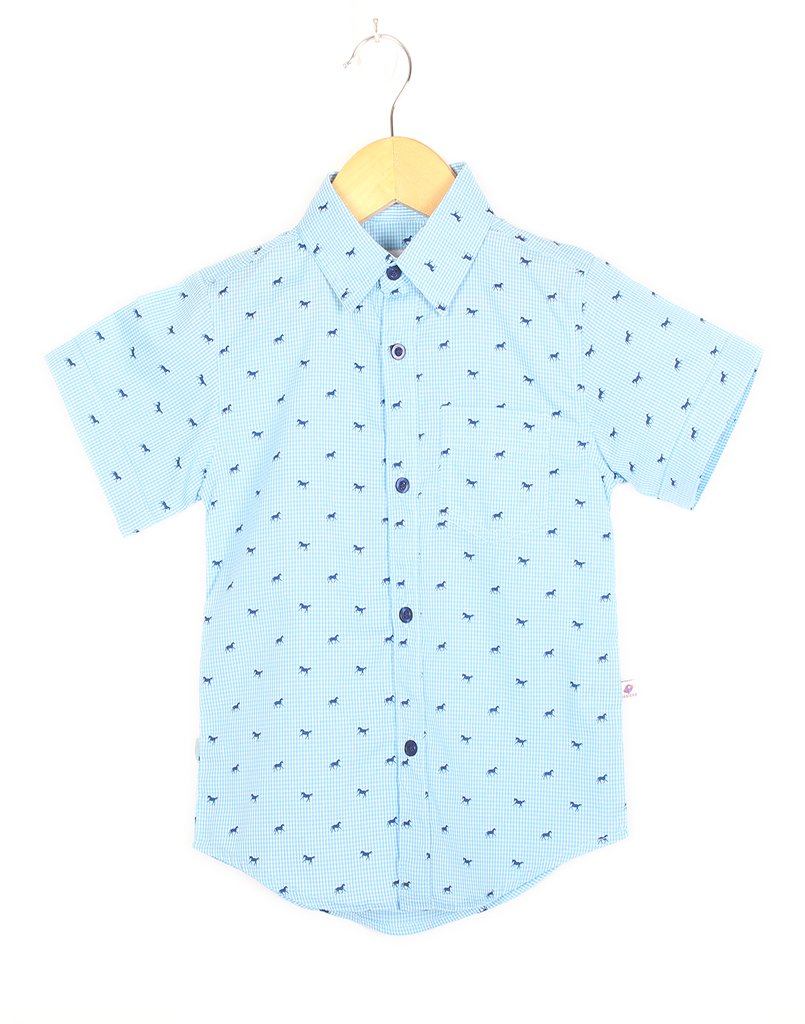 Blue Horse Checks Shirt
