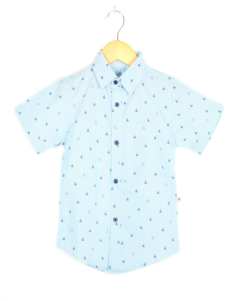 Blue Boat Stripe Shirt