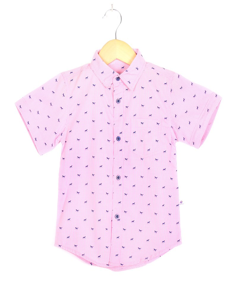 Pink Horse Checks Shirt