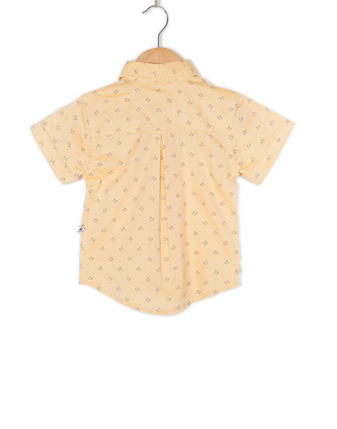 COO COO 'The Parth' Whale Printed Half Sleeve Shirt - Mustard Yellow