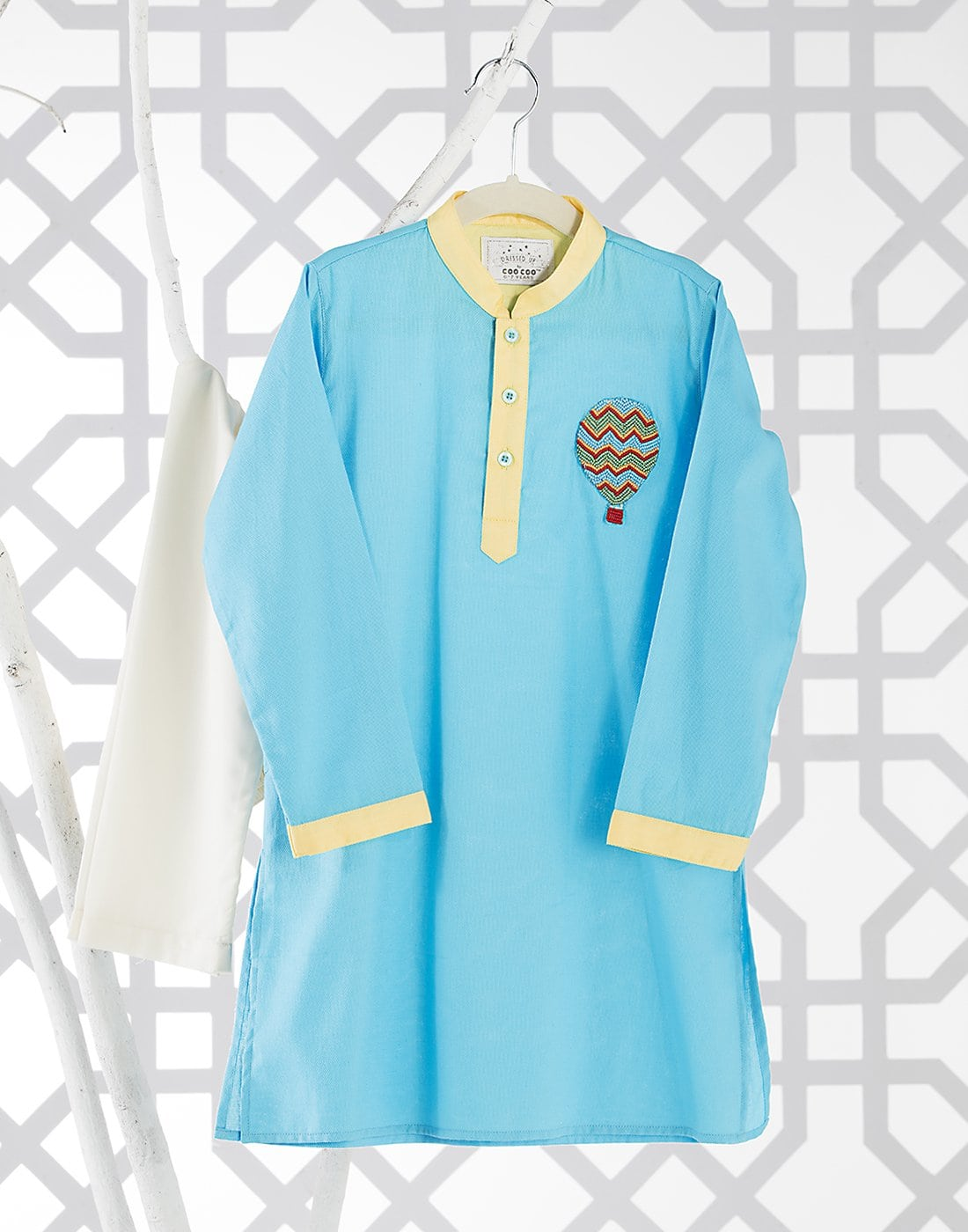 Hot Air Balloon Kurta