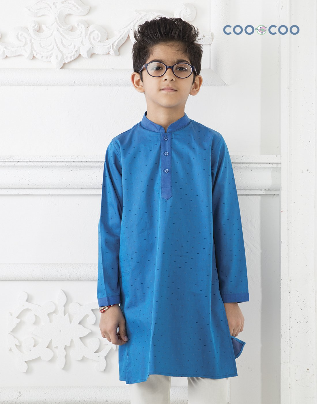 Blue Satin Kurta Set