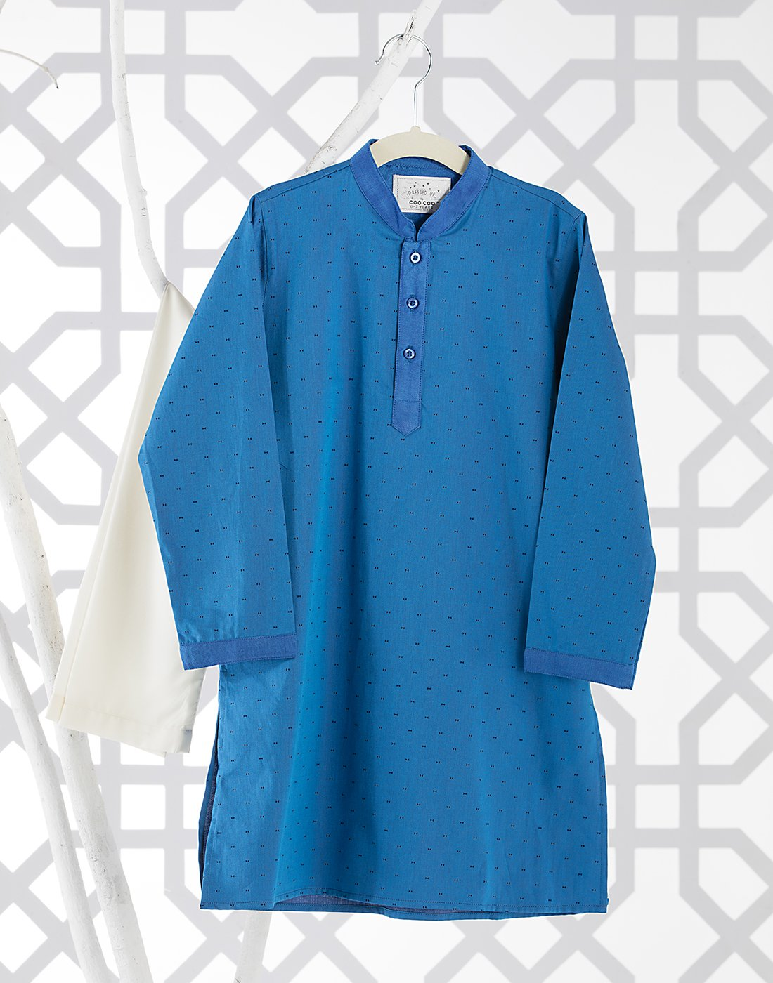Blue Satin Kurta