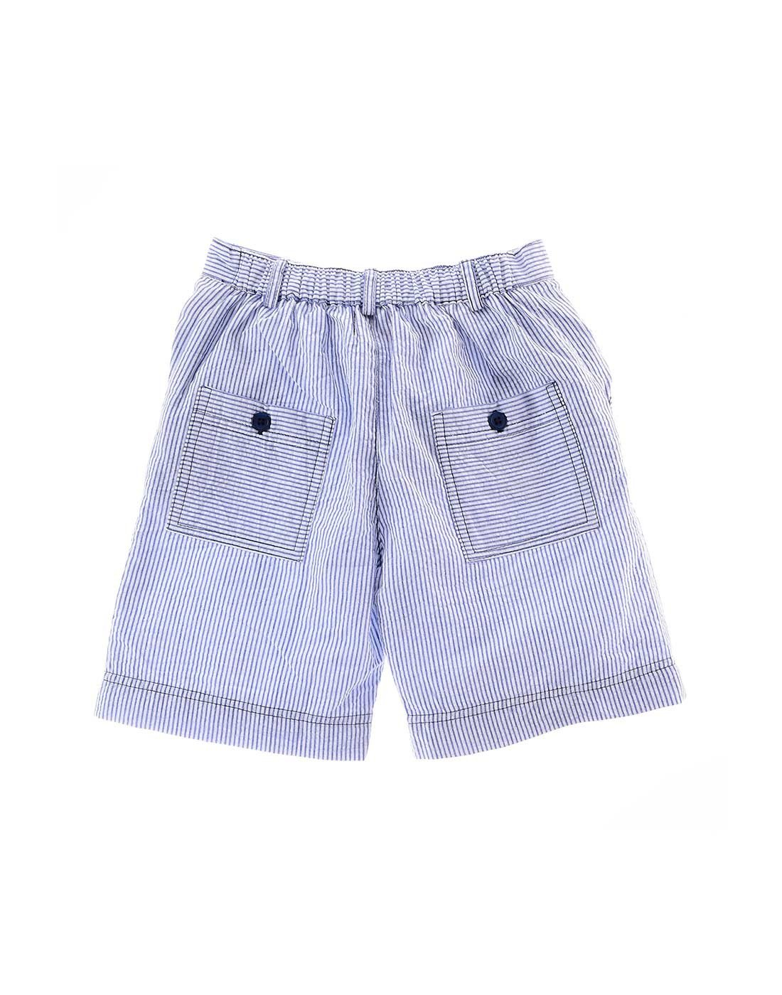 The Sumer - Boys  Blue & White Seersucker Shorts