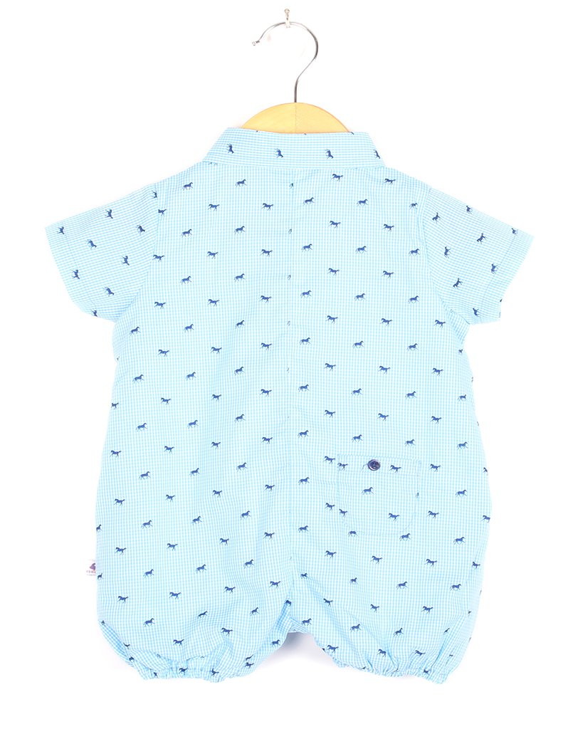 Blue Horse Checks Romper