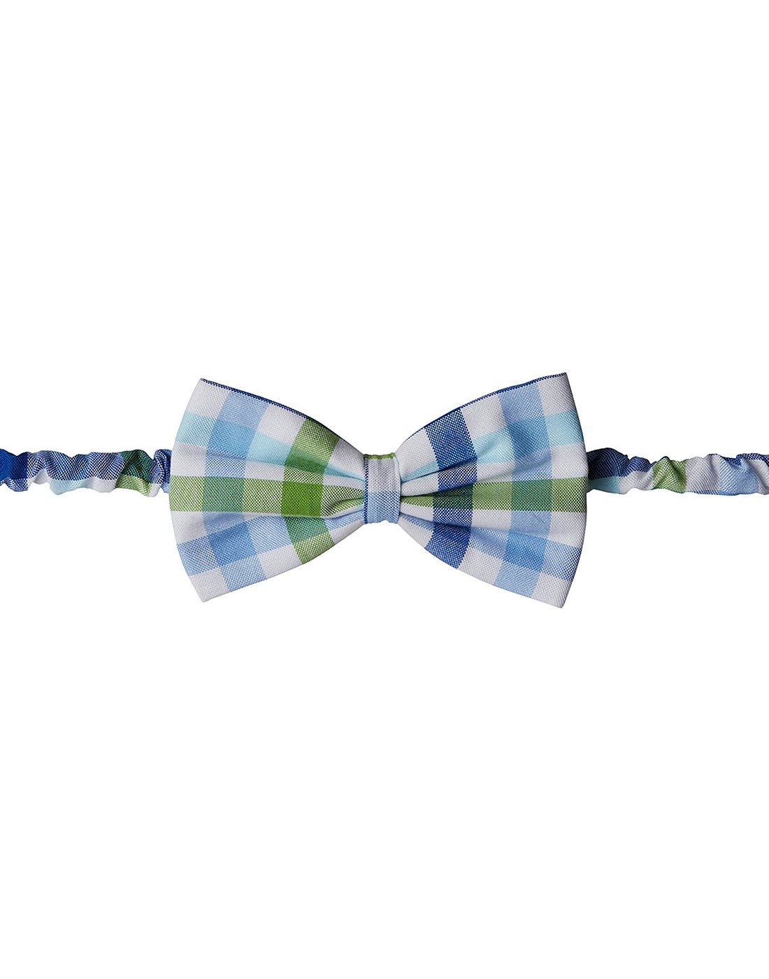 Green Blue Checks Bow Tie