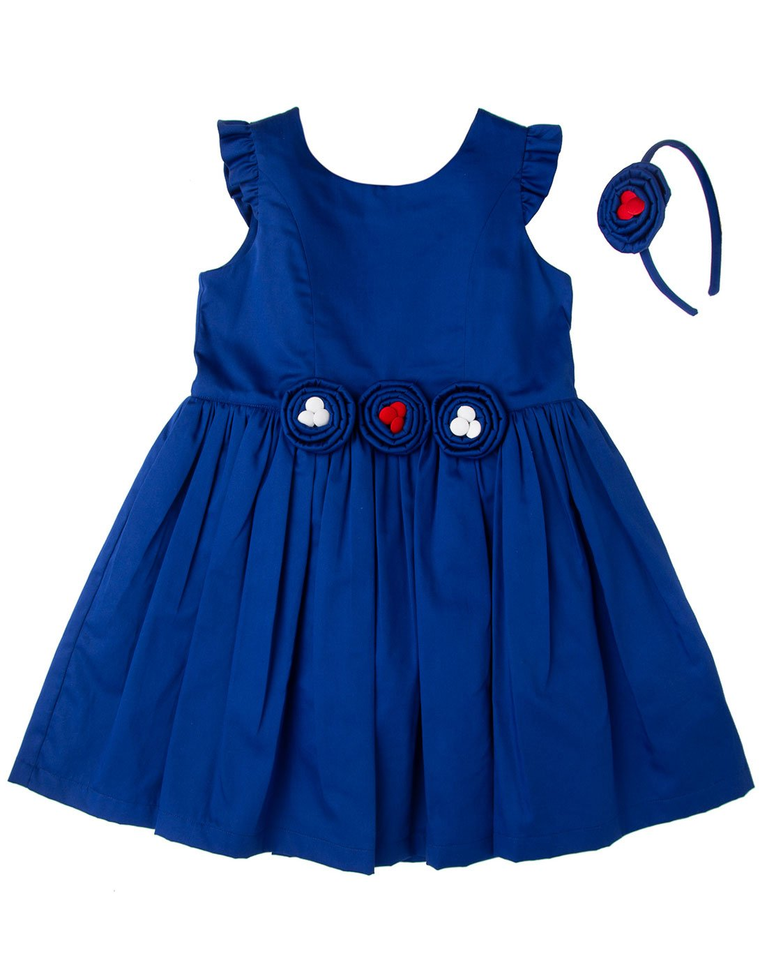Royal Blue Rosset Dress