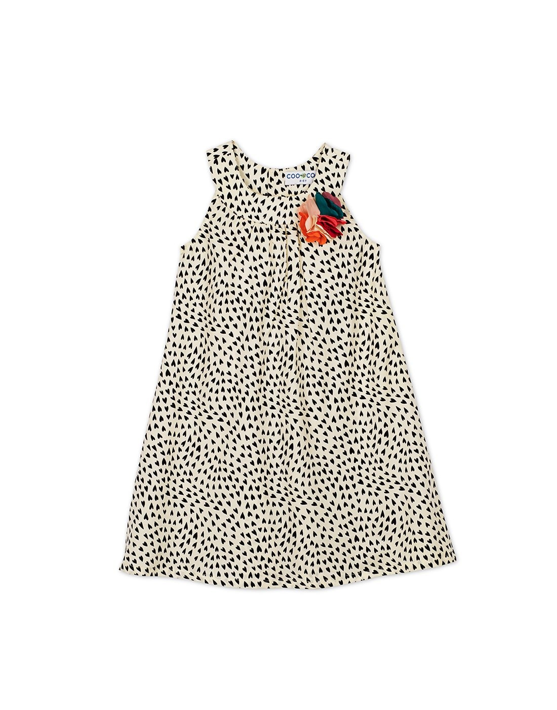 The Alekha B/W Heart Dress