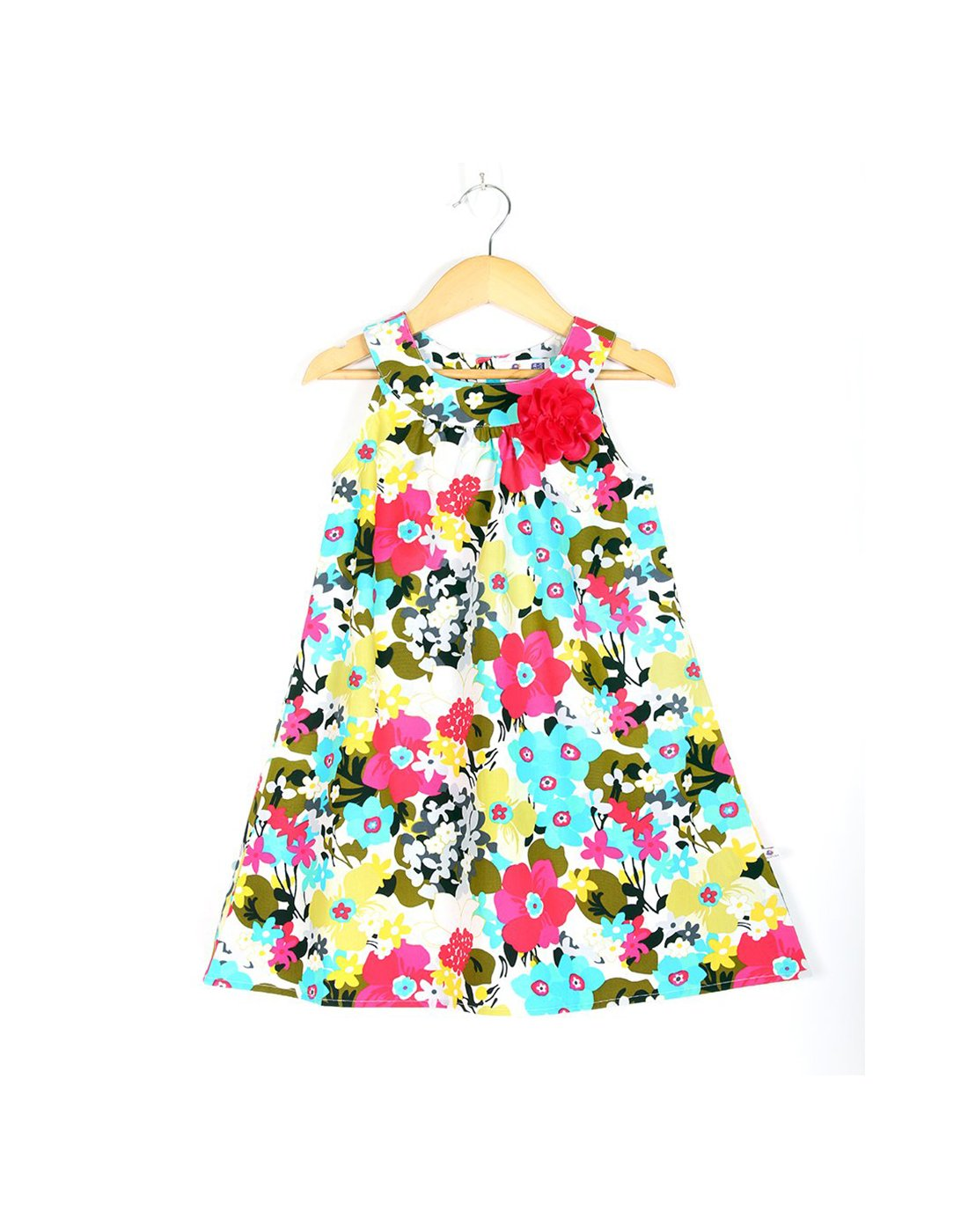 Multiflower Printed Halter Summer Dress