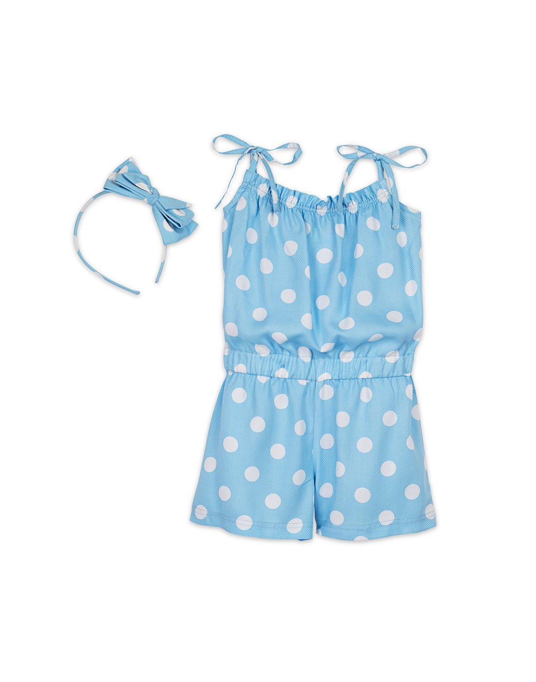 Blue Polka Playsuit