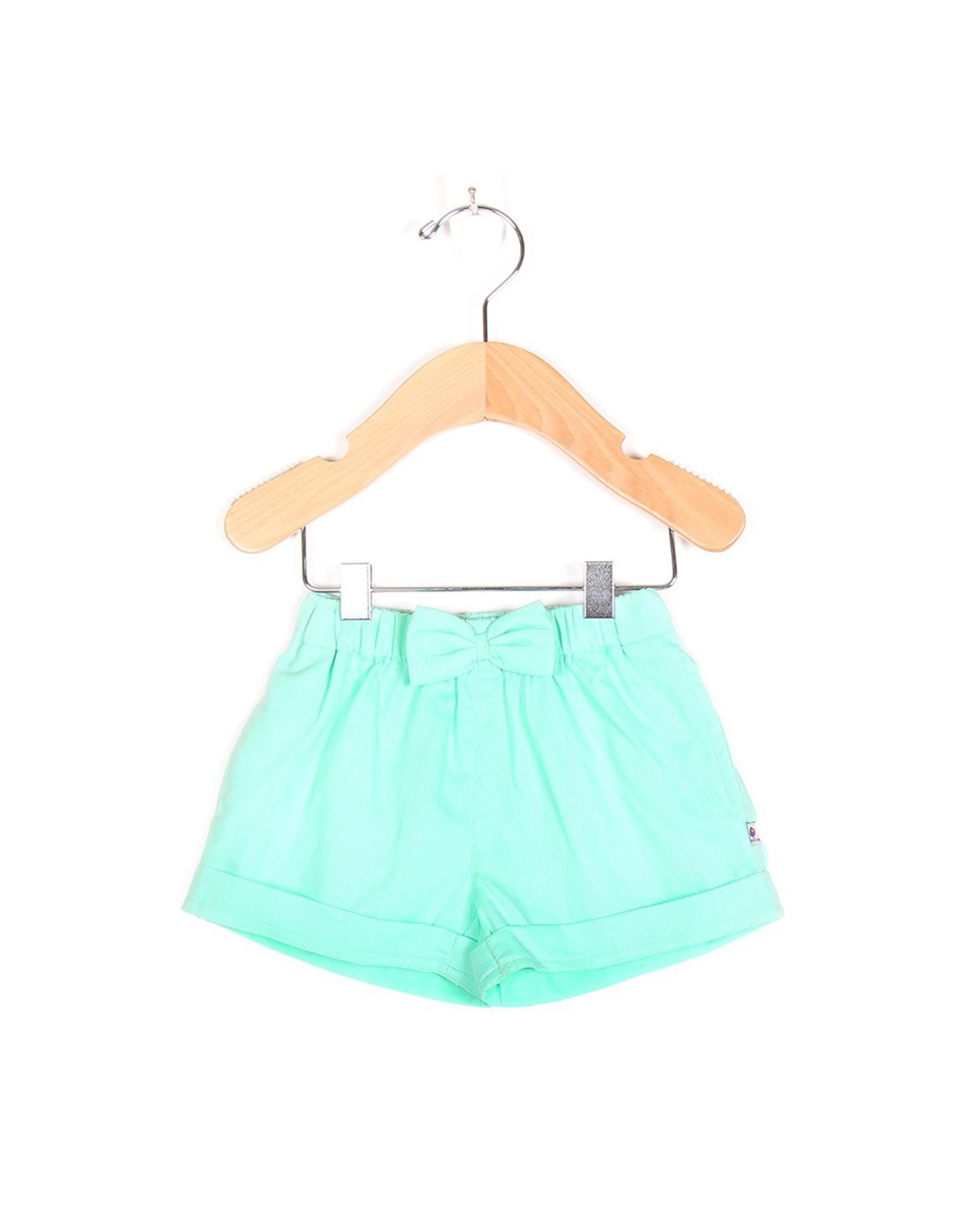 Mint Green Woven Shorts