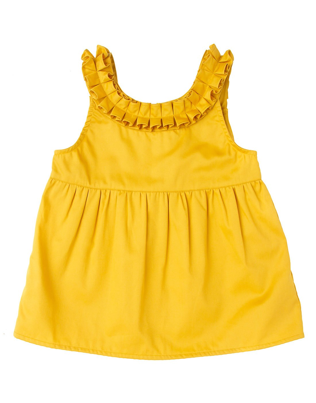 Canary Ruffle Top