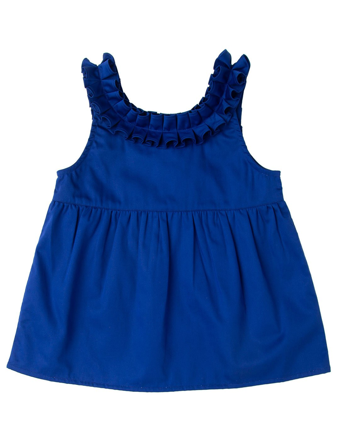 Royal Blue Ruffle Top
