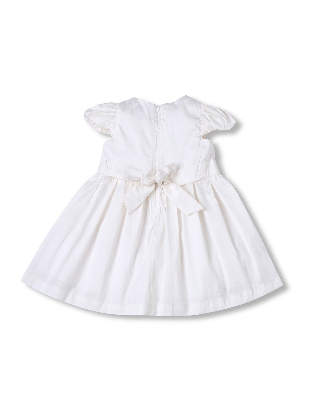 White Taffeta Dress