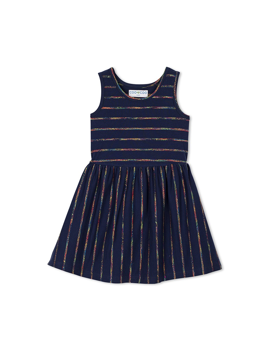 Blue Stripe Jersey Dress