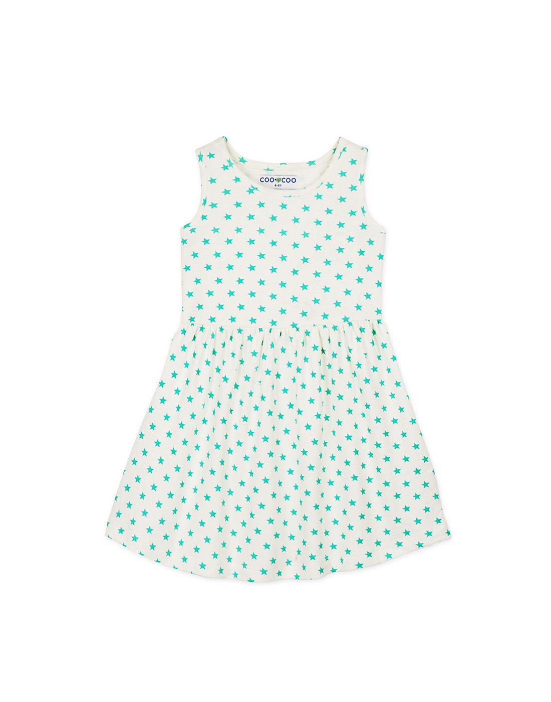 Sea Green Star Jersey Dress