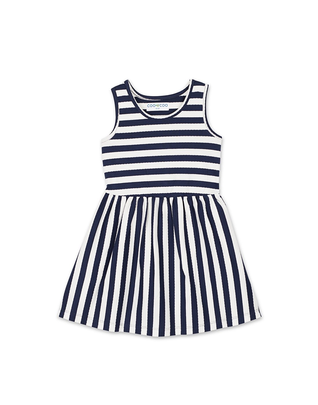 Navy & White Stripe Dress
