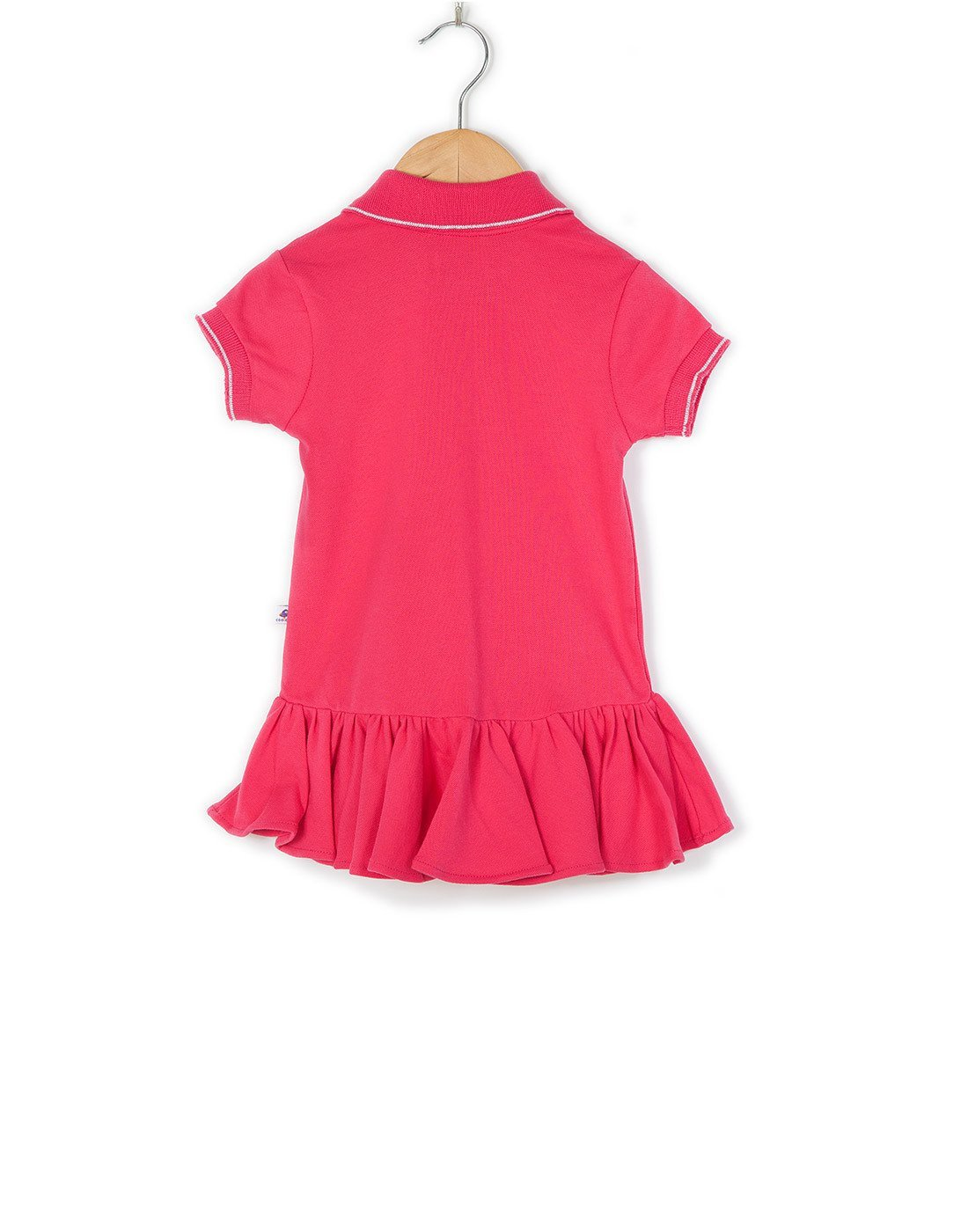 COO COO Polo Dress with Diamonte Logo - Rani Pink