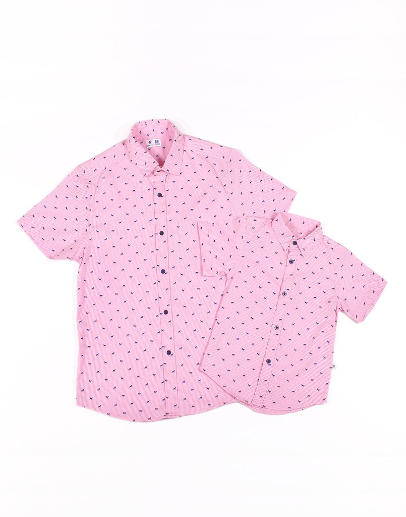 Father - Pink Horse Checks Shirt