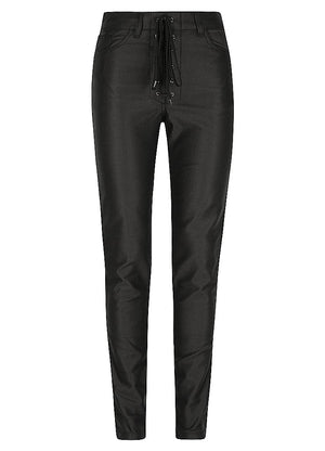 Lucille Motorcycle Jeans Black