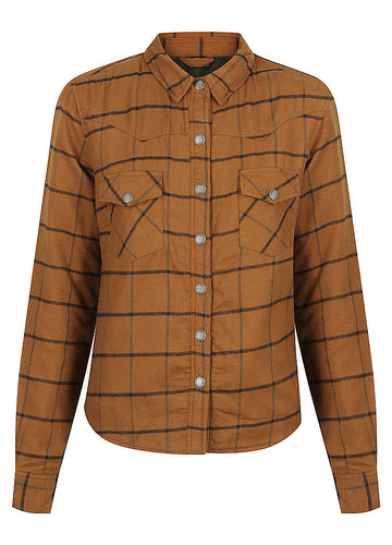 Savannah Motorcycle Shirt - Whiskey Check