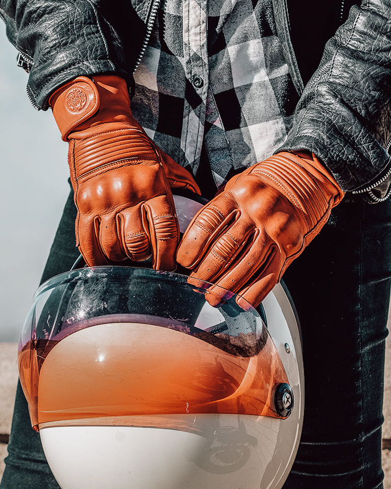 Queen Bee Motorcycle Gloves RUST